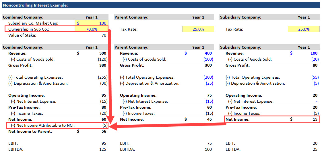 Noncontrolling Interests - Income Statement
